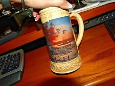 """Collectible Stein tankard Terry Redlin """"That Special Time""""  #1141 Hadley Coll."""