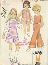 Vintage 1960s Girl's Jumpsuit Pants or Shorts Summer Fashion Sewing Pattern