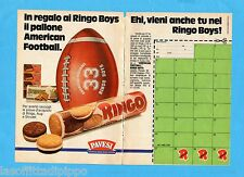 TOP985-PUBBLICITA'/ADVERTISING-1985- PAVESI - RINGO BOYS -2 fogli