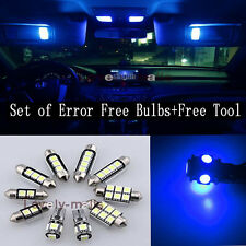 Car Error Free Blue Led Interior Bulb Package 9X Kit For 02-06 Mini Cooper  Y1