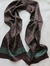 Newest Elegant/Men's 100%Mulberry silk Double sided silk long scarf /brown green