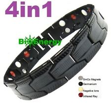 Magnetic Energy Germanium Power Bracelet Health 4in1 Bio Armband PURE TITANIUM