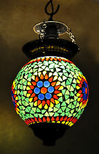 Indian Antique Glass Ceiling Hanging Lamp Globe Pendant Swag Lamp 13X9