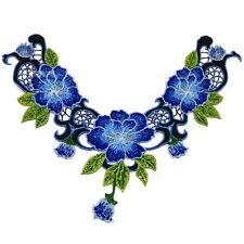 Pretty Embroidery Flower Lace Collar Venise Trim Motif Sewing Applique Craft Hot