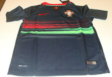 FIFA Portugal 2015 World Cup Soccer Away Jersey SS XS Youth White Black Kids