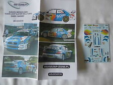 NEW 1:43 SUBARU Impreza WRC Decal GASS 2012 ULSTER Rally Motorsport