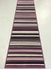 "Element Runner Striped Rug Purple / Black 60 x 220 cm (2' x 7'3"") Carpet"