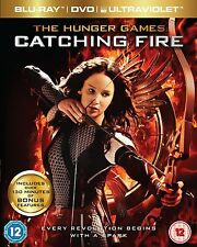 BLU-RAY + DVD TRIPLE PLAY  THE HUNGER GAMES CATCHING FIRE  BRAND NEW  UK STOCK