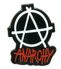 ANARCHY SYMBOL BAKED ENAMEL PIN - anarchist sex pistols punk button