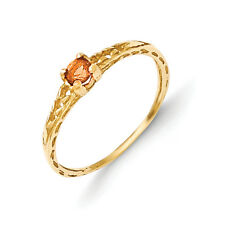 14K Yellow Gold 3mm Citrine Birthstone Baby Ring Size 3 Madi K Child's Jewelry