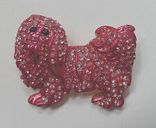 Cute Pink Dog Pin - Brooch Gift - Ideal For Hat - Coat - Scarf - Jacket - Purse