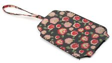 Zest Rose Print Phone Case 7.5cm x 13.5cm Black & Red