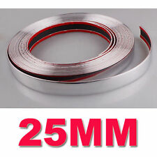 25MM x 15M Car Styling Chrome Moulding Trim Strip Decor Adhesive Strip For Cars