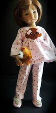 """Puppy Pajamas, Slippers & Puppet - fits 13"""" Little Darling by Dianna Effner"""