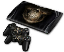 PS3 PlayStation 3 Super Slim Skin Design Aufkleber Schutzfolie Set - Grim Reaper