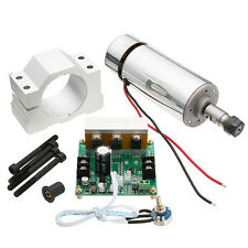 ER11 Chuck CNC 400W Spindle Motor With 52mm Clamps and Power Supply Speed Govern