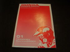 OEM Honda Owners Manual 2001 TRX250EX TRX 250 Sportrax 00X31-HN6-6000