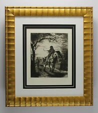 Original 1800s JACOMB-HOOD Etching On the Bridgewater Canal SIGNED Framed COA
