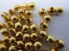 600pcs Gold Plated Metal Round Ball Hole 0.5mm Charms Spacer Beads DIY 2mm