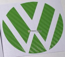 Emblem Ecken Carbon Grün hinten VW Golf 6 VI GTI GTD R Turbo Logo Folie Sticker