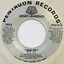 HENRY LAWRENCE Do It PENTAGON 45 modern soul boogie NM 7""