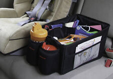 BABY CHILDRENS CAR SEAT STORAGE TIDY  with DRINKS CUP HOLDER for back of car