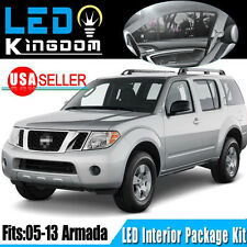 19X Xenon White LED Light Bulbs Interior Package Kit for 2005-2013 Nissan Armada