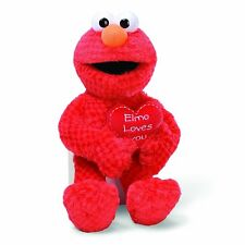 "GUND SESAME STREET ELMO LOVES YOU VALENTINES DAY PLUSH TOY 14"" NEW WITH TAGS"