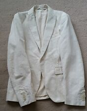 DIESEL BLACK GOLD JUPIPPI GIACCA IVORY JACKET/BLAZER 46 S 100% AUTHENTIC