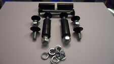 Black Bumper Bolt Set for Escort & Many More Models With Spacers (4 short 4Long)