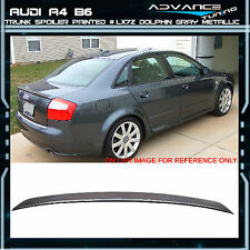 02-05 Audi A4 B6 Trunk Spoiler OEM Painted Match # LX7Z Dolphin Gray Metallic