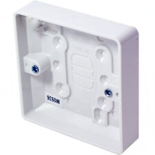 5x 38mm Deep Single Plastic Surface Mounted Back Box-1 Gang Wall Pattress Outlet