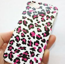 iPhone 5 5S SE - HARD SNAP ON PROTECTOR CASE COVER PINK WHITE LEOPARD CHEETAH