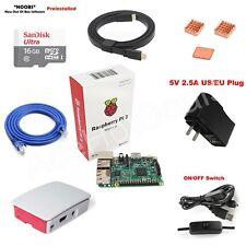 Raspberry Pi 3 Model B 1GB RAM Quad Core 1.2GHz CPU Starter Kit w/ Official Case