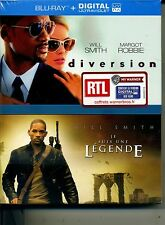 DIVERSION + JE SUIS UNE LEGENDE  COFFRET 2 BLU RAY + DIGITALE  NEUF ref2110166