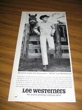 1964 Print Ad Lee Westerners White Jeans Cowboy & Horse Texas Ranch