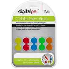 10PK CABLE IDENTIFIERS COLOUR CODED IDENTIFIERS CABLE MANAGEMENT FOR HOME