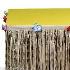 3m Tropical Luau Hawaiian Natural Flower Grass Table Skirt Decoration