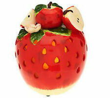 Table APPLE Fruit Decoration Luminary w/ Flameless Candle QVC H199012