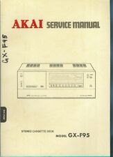 Orig Factory Akai  GX-F95 Stereo Cassette Tape Deck Service Manual Parts List