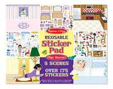 Melissa & Doug Reusable Sticker Pad Play House! #4197  new sealed