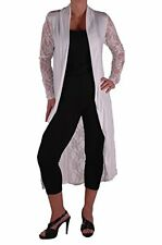 Womens Long Sleeve Open Mesh Lace Back Plus Size Waterfall Jersey Cardigan