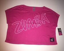 Zumba Fitness Women's Party in Pink Breast Cancer Boxy Top size L