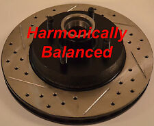 87-93 Mustang 5.0  Cross Drilled Slotted Rotors Harmonically Balanced Front Set