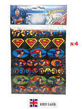 4 Pcs SUPERMAN Kids STICKER SHEETS Party Favors Bag Fillers Logo Stickers Gift