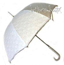 Goth : Parapluie Ombrelle Cloche & Canne Dentelle BLANC Manga Lolita Gothique