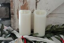 "Set of Two 9"" Vanilla Scent Luminara Fireless Candles (Free Remote and Shipping)"