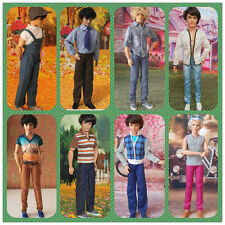 Random 4 Sets Different Styles Clothes Outfits for Barbie Boyfirend Ken Dolls