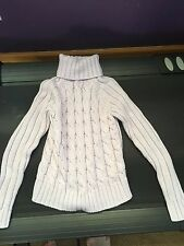 The Limited Women's Lavender Turtleneck Cableknit Sweater Size Medium XS