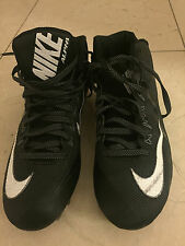 Preowned !!! Nike Soccer Alpha Cleats  Shoes Black Size US 11 !!! MG